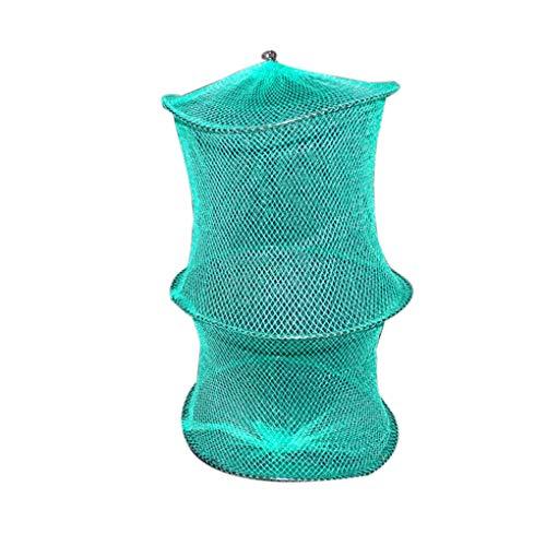 Laileya 1/2 Schichten Fischernetz Garnele Kult Cage Fisch Cage Fish Trap Trap-Netzwerk bewegliche Faltbare Nylon Fischernetz -