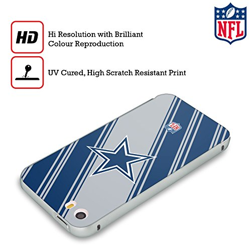 Ufficiale NFL Pattern 2017/18 Dallas Cowboys Logo Argento Cover Contorno con Bumper in Alluminio per Apple iPhone 6 Plus / 6s Plus Righe
