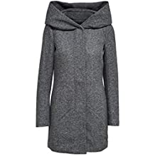 b9845479cc19 ONLY Damen Mantel Onlsedona Light Melange Coat Cc OTW