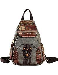 420c065e017bb Frauen Rucksack Weibliche Vintage Handgemachte Rucksäcke Für Mädchen Mini  Rucksack Nationalen Stil Geometrische Druck…