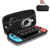 Iglatt Nintendo Switch Tasche Aufbewahrungstasche Netztasche für die Switch Dock, Netzteil, HDMI Kabel, Pro Kontrolleur und 10 Spiele