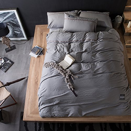 LongYu Bettwäsche Quilt Simple Home Textile Bettfutter Washed Cotton Vierteiliges Set Kann sich den Ball nicht leisten Exquisite Soft Bequeme (Color : M, Size : 200*230cm)