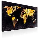 murando - Weltkarte Pinnwand 90x60 cm Bilder mit Kork Rückwand 1 Teilig Vlies Leinwandbild Korktafel Fertig Aufgespannt Wandbilder XXL Kunstdrucke Landkarte k-A-0054-p-a