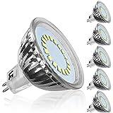 LE Pack de 5 bombillas LED, MR16, casquillo GU5.3, consumo 3.5W, equivalente a bombillas halógenas de 50W, 12V CA/CC, 280lm, ángulo de haz 120°, luz diurna (6000K), bombilla LED