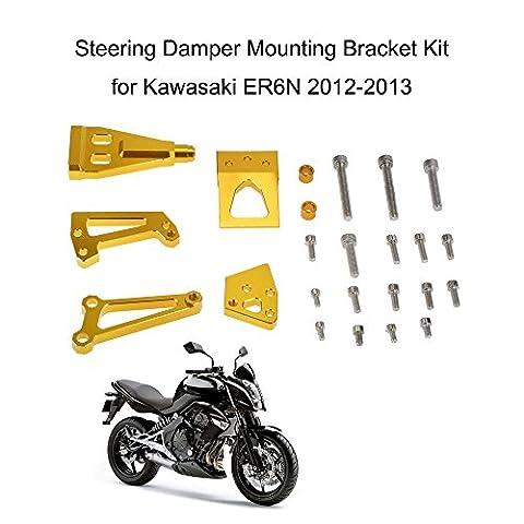 KKmoon Moto Amortisseur de Direction Stabilisateur Kit de Support de