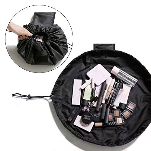 MLMSY Makeup Bag Drawstring Portable Travel Cosmetic Make Up Pouch Toiletry Storage Organizer for Women Girls
