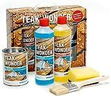 Ferro Pilot teakwonder–Set completo con detergente, triplo e sigillante per langanhaltende legno Cura