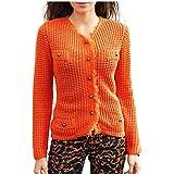 Travel Couture by Heine Damen-Jacke Strickjacke Orange