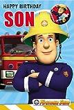 Fireman Sam Son Birthday Card (With Badge)