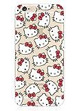 Phone Kandy Garde de la peau et l'écran clair transparent Hard Shell Case pour iPhone Cartoon Coquille (iPhone 7 (4.7 pouce), Hello Kitty)