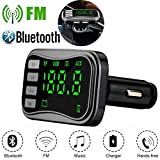 TianranRT Drahtlos Bluetooth FM Sender Modulator Auto Kit MP3 Player Dual USB Ladegerät (Grau)