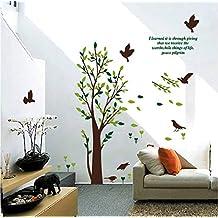 Adesivo da parete autoadesivo rimovibile stereo di terza generazione albero verde dell'autoadesivo dell'autoadesivo della parete della camera da letto del salone