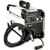 STAHLWERK MIG 135 ST IGBT - Saldatrice a gas MIG MAG con 135 Ampere, filo di riempimento FLUX, con MMA E-Hand, colore: Bianco