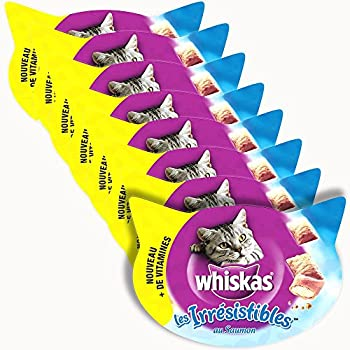Whiskas Les Irresistibles - Gourmandises - au saumon - 8 boites
