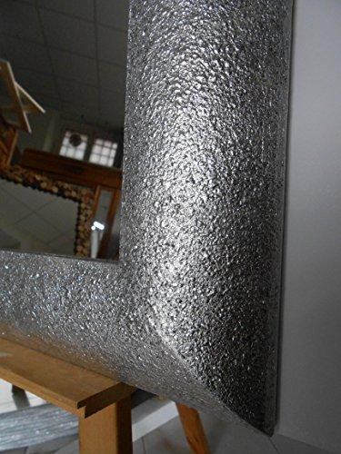 Specchio Bagno Cornice Argento.Specchio Parete Specchiera Cornice Foglia Argento Glitter Cm 50 X