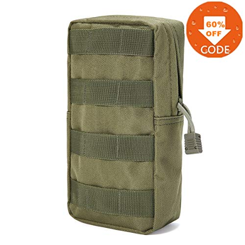 FUNTOK Senderismo Paquetes de Cintura Pouch Pockets Outdoor Sports Utility Gadget Gear Hanging Waist Bags … (Green)