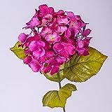 Rama de hortensia artificial, fucsia, 70 cm, Ø 16 cm - Flor sintética / Tallo decorativo - artplants