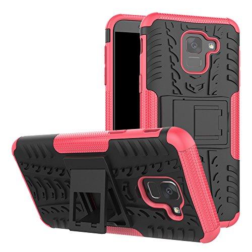 321f0a3a74d BCIT Samsung Galaxy J6 2018 Cover Escabroso Durable Estuche Protector  TPU/PC Funda Carcasa Case