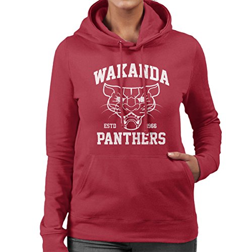 Marvels Black Panther Wakanda Panthers Womens Hooded Sweatshirt Cherry Red