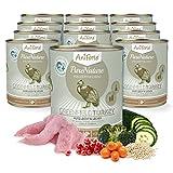 AniForte® PureNature Hundefutter Greenfield Turkey 12 x 800g - Naturprodukt für Hunde