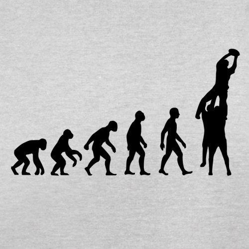 Evolution of Rugby Gasse - Herren T-Shirt - 13 Farben Hellgrau