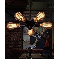 BBSLT Ristorante Vintage coffee shop industrie creative lampadari di vento, bar di tubi di ferro della ruota panoramica Ferris lampadari , testa 9