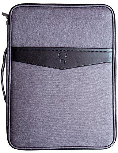 Multifunktionale Business A4 Dokumententasche wasserdicht Files Organizer Reiseausrüstung Organizer Reißverschluss Case für iPads Notebook Stifte Dokumente Reisen und Office by Mygreen (dunkelgrau) -