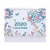 Calendario da Tavolo 2020 Desk Calendar Cherry Blossom amore Desk Calendar Notebook Desktop Calendar (Color : D)