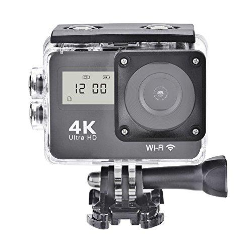"""Acouto Action Kamera, 4k HD 1080P 130 ° Weitwinkel 2.0"""" Touch Double Screen Wifi Wasserdichte Sport-Kamera mit Fernbedienung Cotroller und Wasserdichtes Gehäuse Kamera-Zubehör-Kit"""