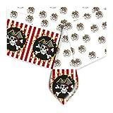 Big Party Pirates Nappe en PVC décorée, Blanc/Noir/Rouge, 140x 270cm, 14778...