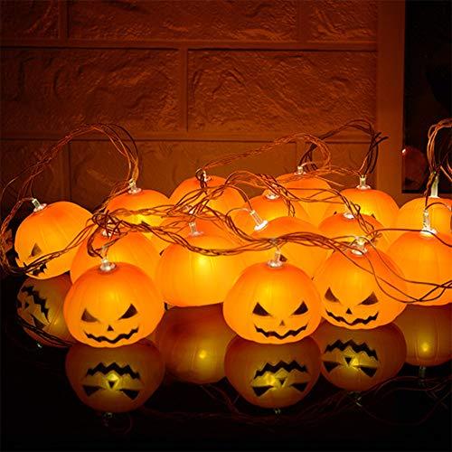 JMENG Batteriebetriebene Halloween Kürbis LED Lichterketten Halloween Urlaub Weihnachtsfeier Garten Dekoration Beleuchtung. Festival Lichter
