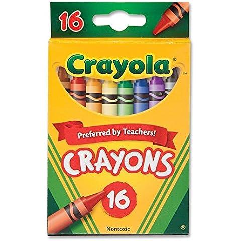Crayola-Pastelli a cera, confezione da 2, confezione da 16 pezzi)