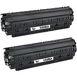 Cool Toner CE285A 85A Compatible Toner Cartridge for HP LaserJet P1100 P1102 P1102W P1102WHP, Pro M1132 M1210 M1130 M1212NF M1217NFW, black, 1.600 Pages, 2 pack, ce285a 85a