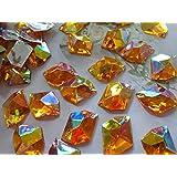 Golden Ab color 100piezas de 21* 16mm de cristal coser en brillantes Cosmic forma Flatback acrílico Strass Diamond Gem piedra