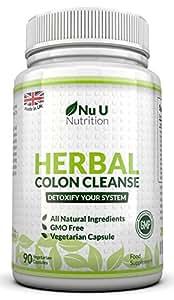 Detox Colon Cleanse zur Entgiftung und Reinigung des Darms - hilft bei der Bewältigung von Giftstoffen - Verbesserung der Verdauung & mehr Energie - Nahrungsergänzungsmittel von Nu U Nutrition