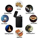 TOPKAY Lichtbogen Feuerzeug, USB Elektro Feuerzeug, [Aktualisierte Version] Doppel Elektronische Feuerzeug, Winddichtes Plasma Feuerzeug Mit Batterieanzeige Vergleich