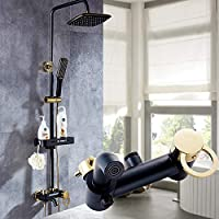 FDGBCF Bathroom Rainfall Shower Set Intelligent Thermostatic Bath Shower Faucets Thermostatic Mixing Valve Shower Tap