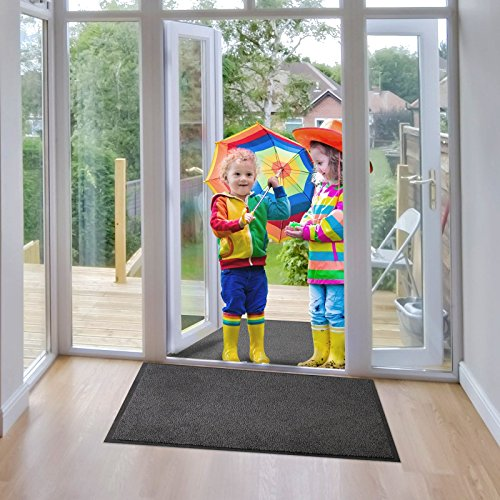 etm® Schmutzfangmatte - Note 1,6: Sieger Preis-Leistung - Fußmatte in vielen Größen - Fußabstreifer für Haustür innen und außen (Anthrazit-Schwarz, 60x90 cm) - 5