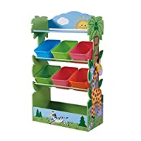 Fantasy Fields By Teamson TD-12799A Sunny Safari Toy Organiser, Yellow/Green