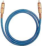 Oehlbach NF 113 DI 50 | Digitales Audio-Cinchkabel | Hochwertiges S/PDIF Koaxialkabel, Mehrfach Schirmung, 75 Ohm | 0,50 m - blau