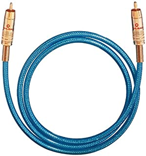 Oehlbach NF 113 DI 50 - Digitales Audio-Cinchkabel - Hochwertiges S/PDIF Koaxialkabel, Mehrfach Schirmung, 75 Ohm - 50 cm - blau (B00007ELWZ) | Amazon price tracker / tracking, Amazon price history charts, Amazon price watches, Amazon price drop alerts