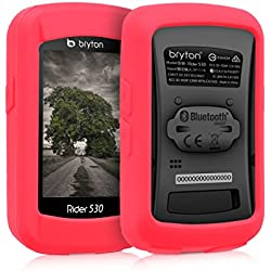 kwmobile Funda para Bryton Rider 530 - protector para ordenador de bicicleta - Cover para GPS en rojo