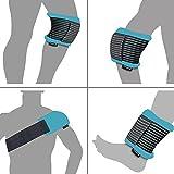Gelpacksdirect - bolsa de gel reutilizable para aplicar frío y calor - con banda de compresión - para lesiones en espalda, rodilla, hombro y tobillo - grande
