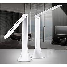 Lámpara LED Mesilla Mospro,Lectura Escritorio Plegable Ajustable Cuidado para los Ojos para Estudiante, Infantil ,de Mesa,Cama para Estudio,Leer con 180 Grados Ajustable, Ahorro Energía(Blanco)