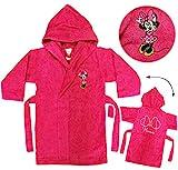 alles-meine.de GmbH Frottee Bademantel -  Disney Minnie Mouse  - 5 bis 8 Jahre / Gr. 116 - 140 -..