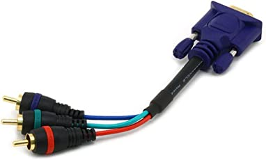 6 inches VGA to 3 RCA component video cable(HD15 - 3-RCA)