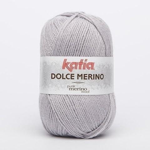 Katia Dolce Merino zum Häkeln und Stricken - Babywolle - 50 g 51 grau