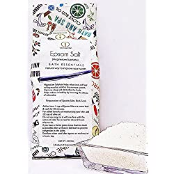 Green Junction Pure Epsom Salt (Bathing ,Relaxation ,Pain Relief , Therapeutic Spa Treatment) 450 g Pack