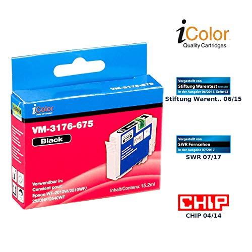 iColor i Color Druckerpatronen: Patrone für Epson (ersetzt T1631 / 16XL), Black (Workforce Wf 2630 Wf, Epson)