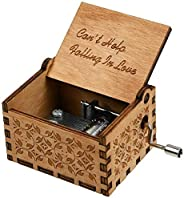 Music Box Can't Help Falling in Love Theme Vintage Classic Handmade Engraved Musical Box,Antique Carved Wo